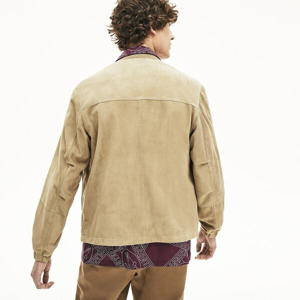 Men's Premium Suede Leather Zip Bomber, VIENNOIS, hi-res