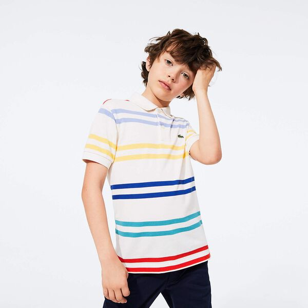 Boy's Striped Coloured  Polo Shirt