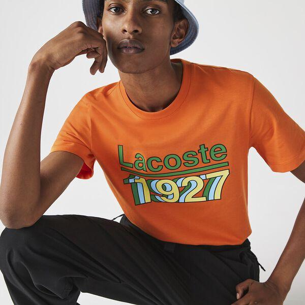 Men's Crew Neck Vintage Printed T-shirt
