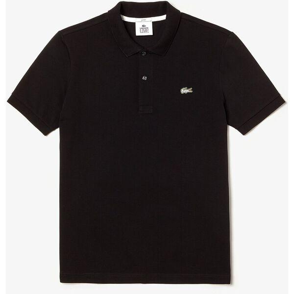 Unisex LIVE Slim Fit Stretch Cotton Piqué Polo, NOIR, hi-res