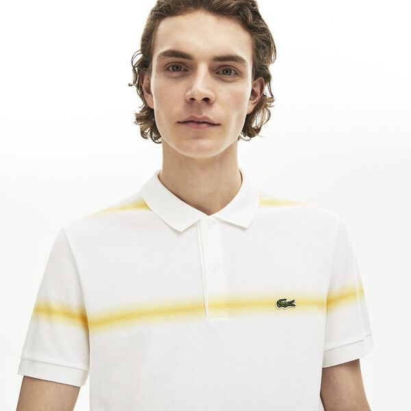 Men's Made in France Regular Fit Cotton Piqué Polo Shirt, BLANC/DABA, hi-res