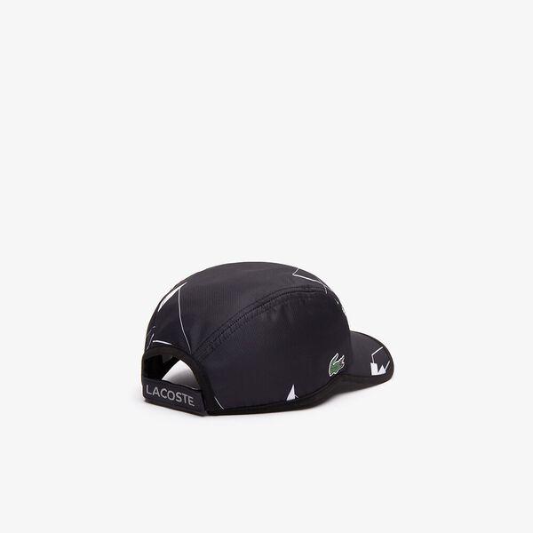 Lacoste SPORT Geometric Print Tennis Cap, BLACK/WHITE-WHITE, hi-res