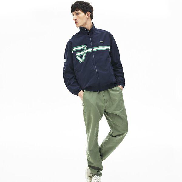Men's Print Band Zip Heritage Tracksuit Jacket