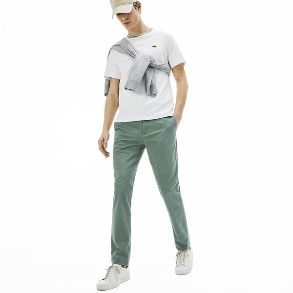 Men's Slim Stretch Chino, GRASSY, hi-res