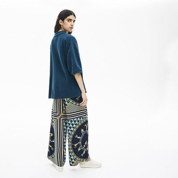 Women's Lacoste LIVE Loose Fit Thick Cotton Piqué Polo Shirt, PIN, hi-res