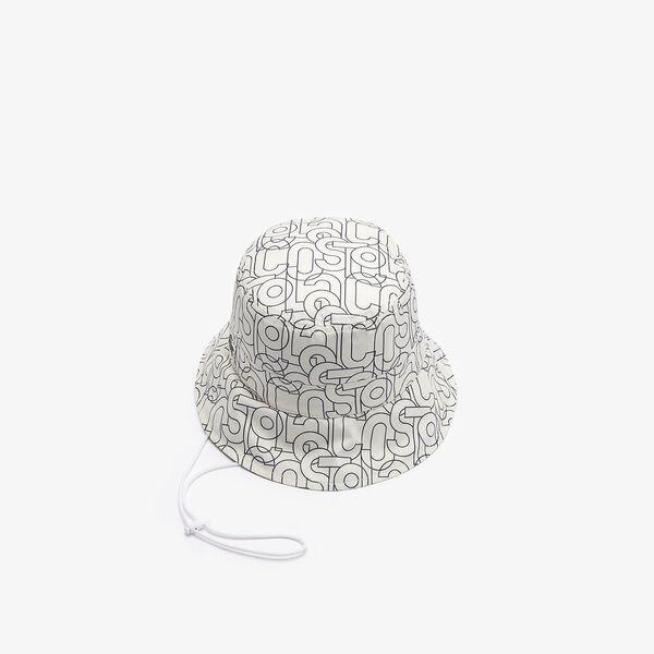 Women's Print Nylon Strap Bob, WHITE/ABYSM, hi-res