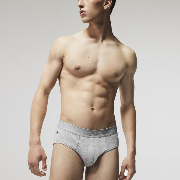 Pack of 4 Essential Briefs, BLACK/SILVER CHINE-PITCH, hi-res