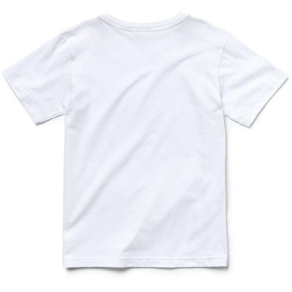 UNISEX KIDS BASIC CREW NECK TEE, WHITE, hi-res