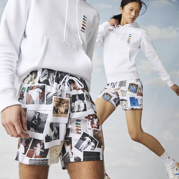 Unisex Lacoste LIVE x Polaroid Print Swimming Trunks