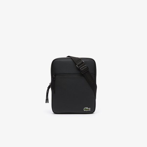 Men's L.12.12 Medium Flat Crossover Bag, BLACK, hi-res