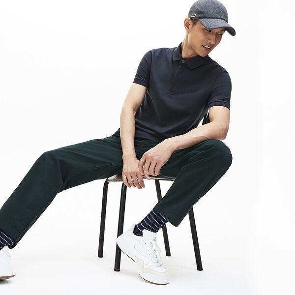 Men's Paris Stretch Polo, GRAPHITE, hi-res