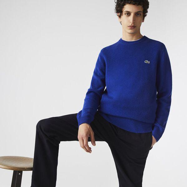 Men's Crew Neck Cashmere Sweater, COSMIC, hi-res