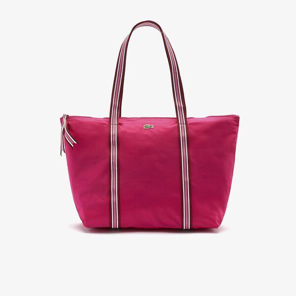 Women's Jeanne Large Striped Handles Canvas Shopper Bag