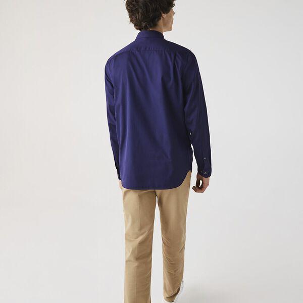 Men's Premium Cotton Shirt, NAVY BLUE, hi-res