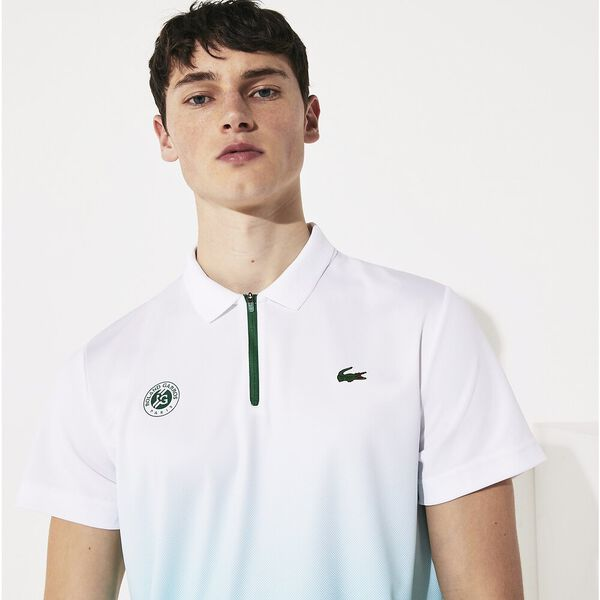 Men's SPORT Roland Garros Cotton Plant Design Polo Shirt