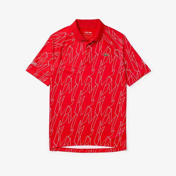 Men's SPORT x French Open Ultra Lightweight Stretch Polo Shirt, POMPIER/BLANC-BLANC, hi-res