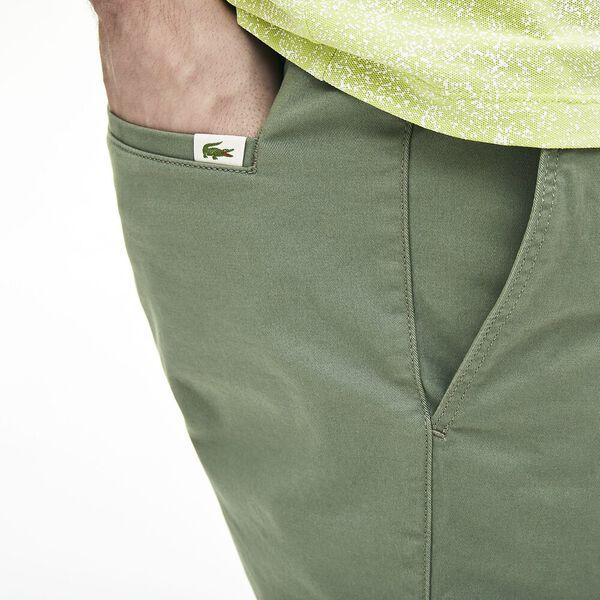 Men's Slim Fit Stretch Gabardine Bermuda Shorts, THYM, hi-res