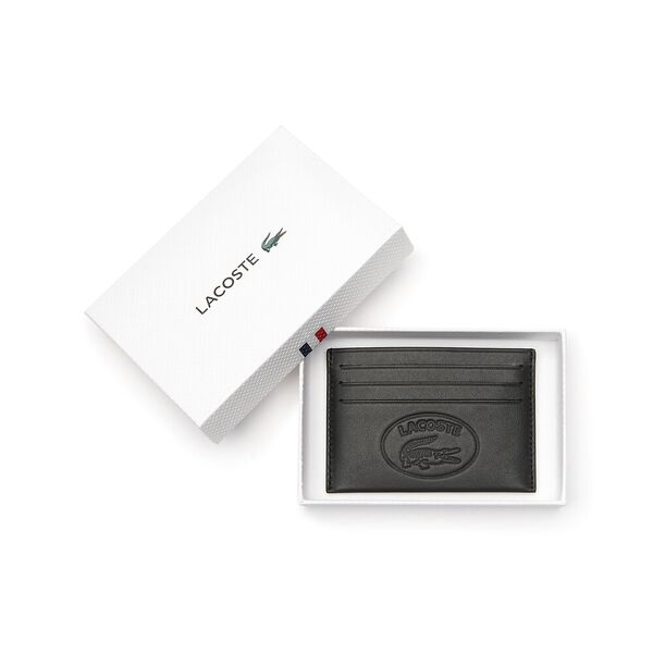 Men's L.12.12 Cuir Credit Card Holder, BLACK, hi-res
