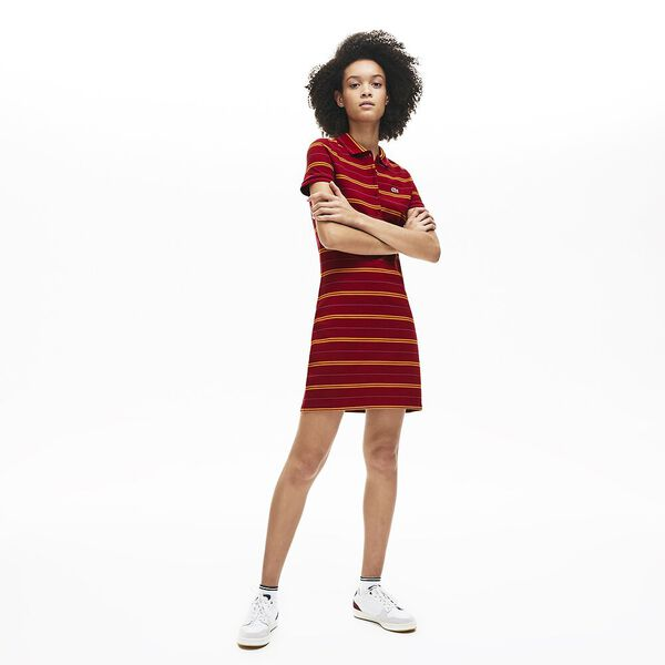 Women's Striped Mini Pique Polo Dress