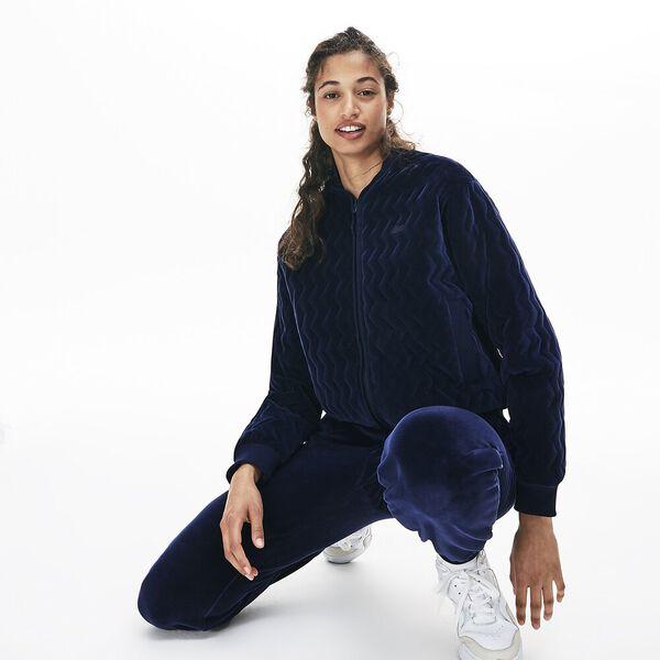 Women's Lacoste Motion Velvet Bomber Jacket