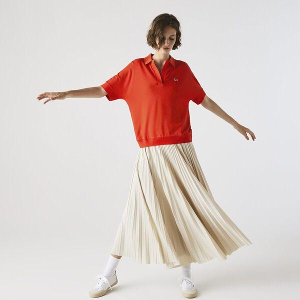 Women's Lacoste Flowy Piqué Polo Shirt, CORRIDA, hi-res