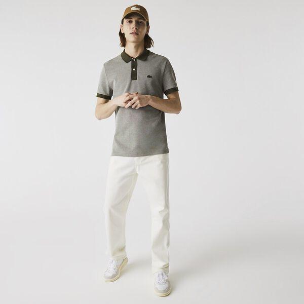 Men's Textured Cotton Piqué Polo
