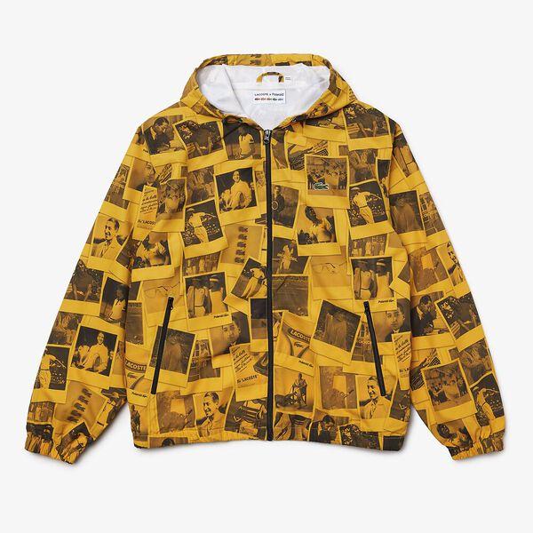 Unisex Lacoste LIVE x Polaroid Zip Jacket, GYPSUM/BLACK, hi-res
