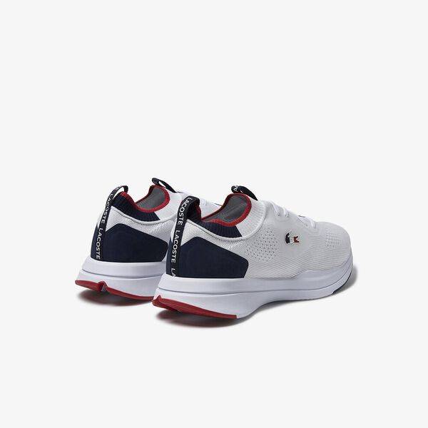 Men's Run Spin Knit Tricolore Sneakers, WHITE/NAVY/RED, hi-res