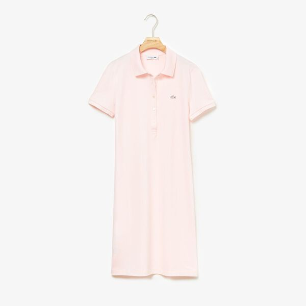 Women's Classic Slim Fit Polo Dress, FLAMINGO, hi-res