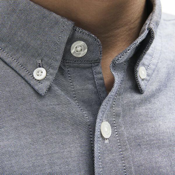 Men's Classic Long Sleeve Reg Fit Oxford Shirt, NAVY BLUE, hi-res