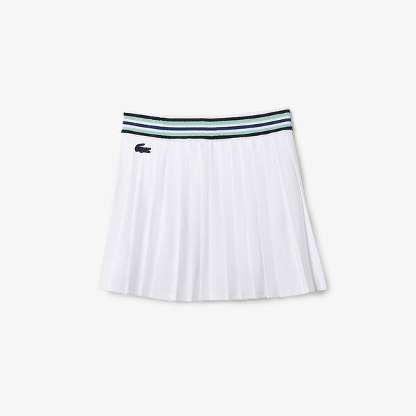 Women's SPORT Breathable Piqué Tennis Skirt, WHITE/COSMIC-SPIRULINA-NA, hi-res