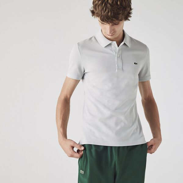Men's Slim fit Lacoste Polo Shirt in petit piqué, CUMULUS, hi-res