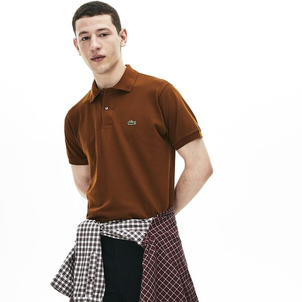 Men's L.12.12 Classic Polo, TOBACCO, hi-res