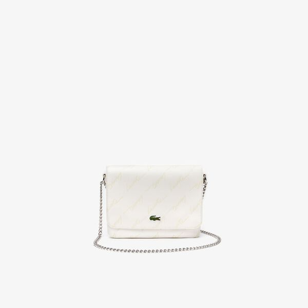 Women's Lacoste LIVE Embossed Signature Shoulder Bag