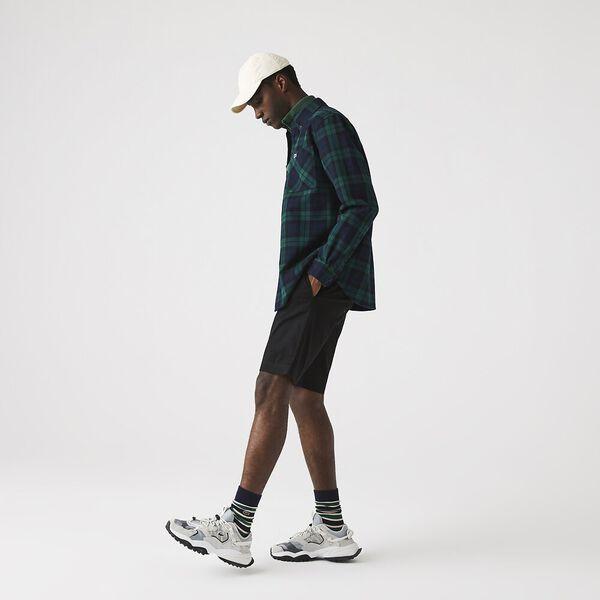 Men's Classic Slim Stretch Bermuda Short, BLACK, hi-res