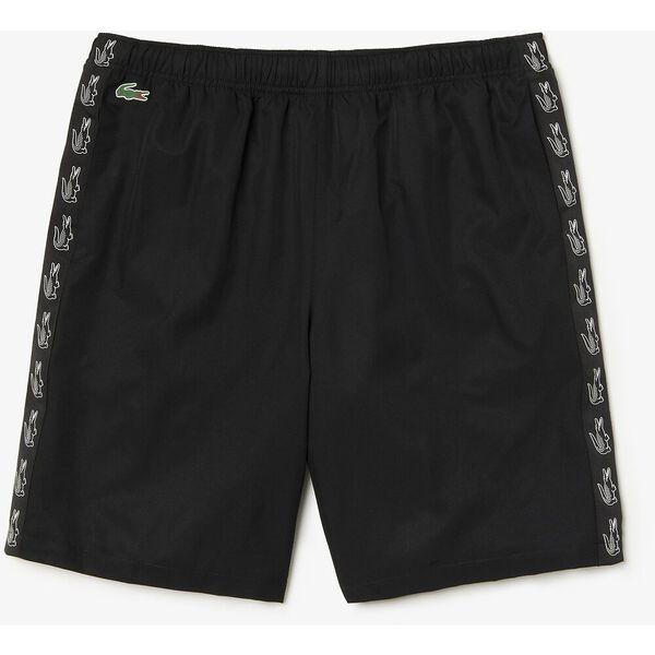 Men's Side Taping Tennis Short, BLACK/BLACK, hi-res