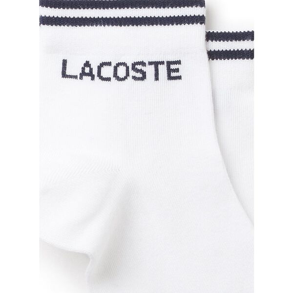 Men's Two-pack of Lacoste Tennis low-cut socks in jacquard jersey, MARINE/BLANC, hi-res