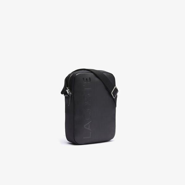 Men's L.12.12 Signature Leather Cross Body Bag, BLACK, hi-res