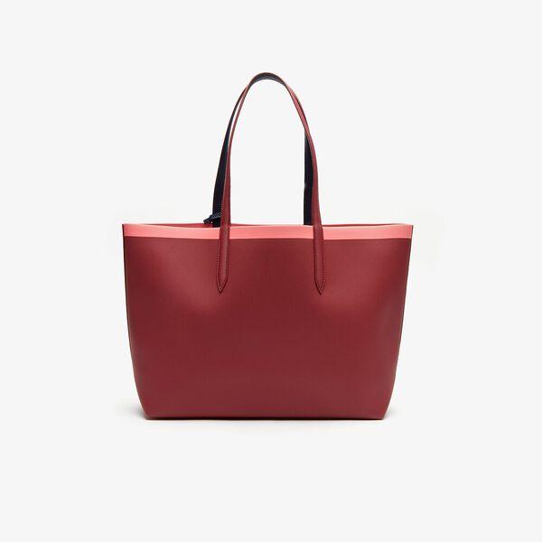 Women's Anna Shopping Bag, RHUBARB PEACOAT NEON PINK, hi-res