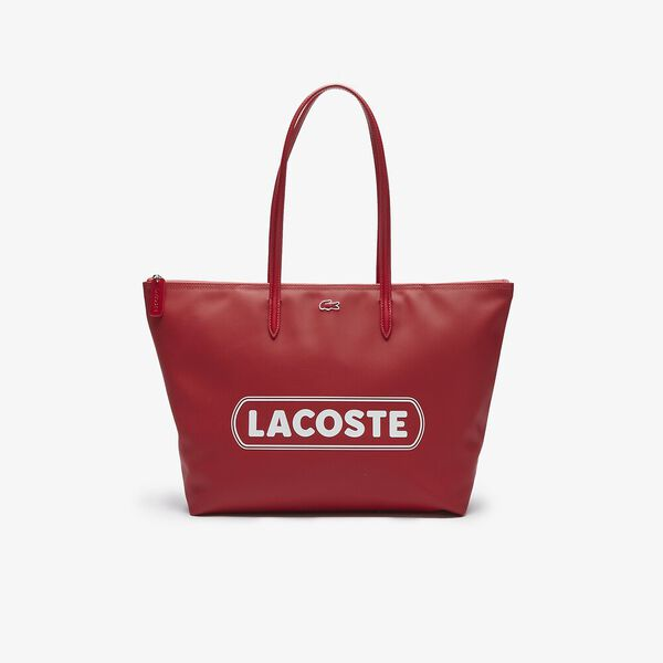 Women's L.12.12 Lacoste Lettering Large Tote Bag