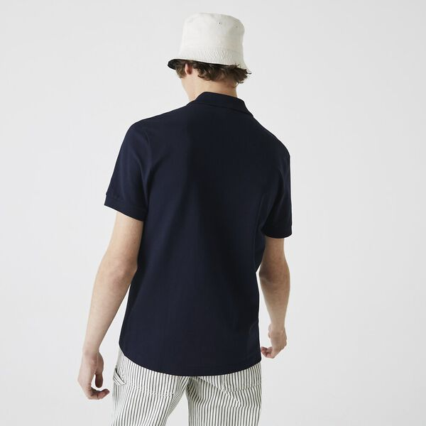 Men's Stretch Pique Polo, NAVY BLUE, hi-res