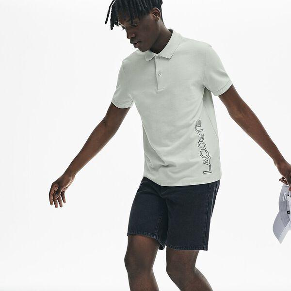 Men's Branded Cotton Polo Shirt, NIMBUS, hi-res