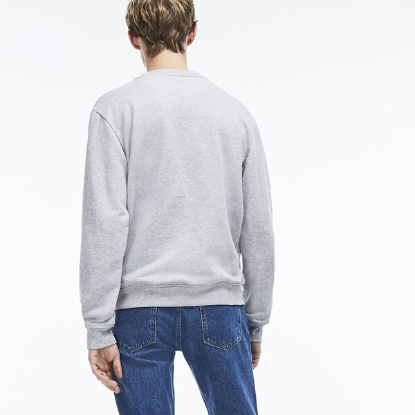 Men's Lacoste Croc Crewneck Sweat, SILVER CHINE, hi-res
