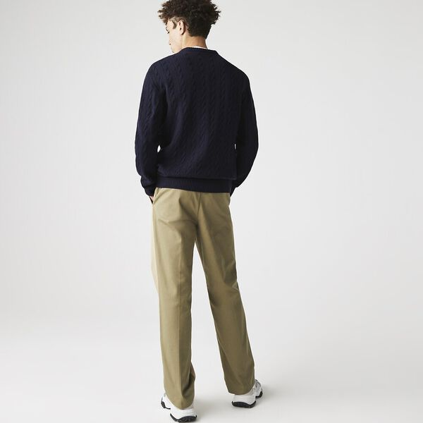 Men's Wool Knitted Sweater, NAVY BLUE, hi-res