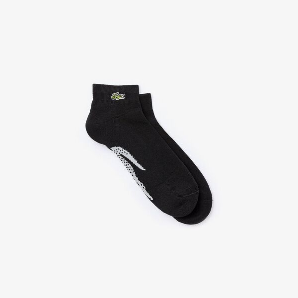 Men's SPORT Tennis XL Crocodile Terrycloth Socks, NOIR/ARGENT CHINE, hi-res