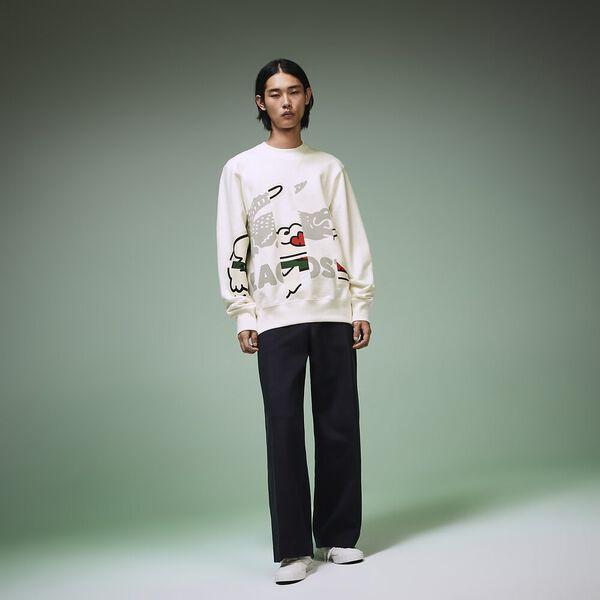 Unisex Fashion Show Iconics Big Croc Sweat, FLOUR, hi-res