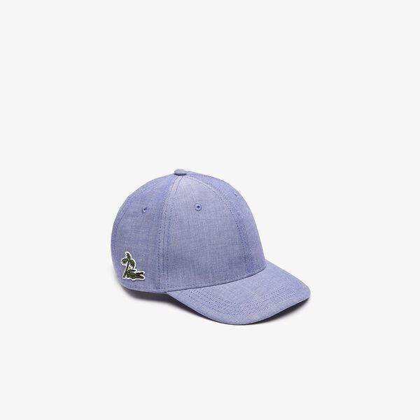 PALM CROC SIDE LOGO CAP, CAPTAIN, hi-res