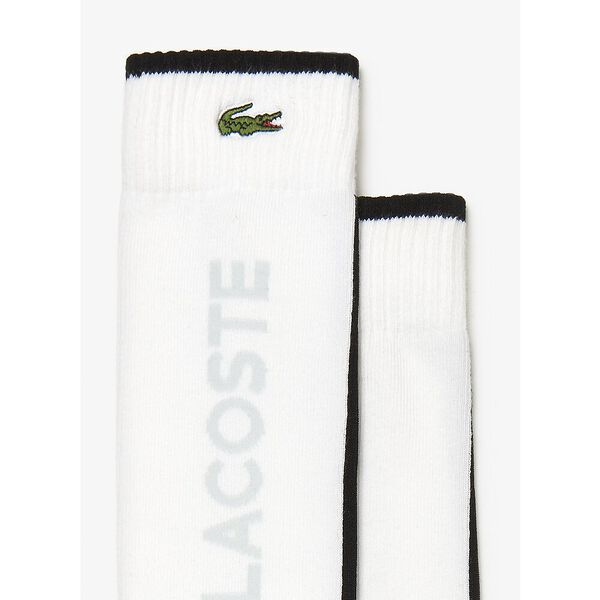 Tennis Logo Training Socks, WHITE/BLACK-FLUO ZEST, hi-res