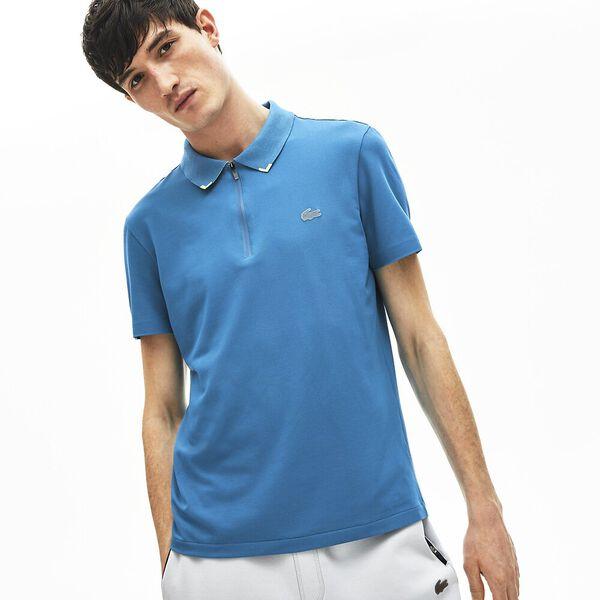 Men's Lacoste Motion Ultra-Light Cotton Polo Shirt, WILLO/SUBAL, hi-res
