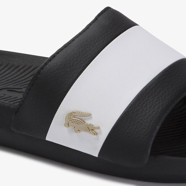 Men's Croco Slide 120 3 US, BLACK/WHITE, hi-res